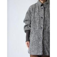 80's LongRib Wool Coat