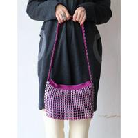 "Pull tab × yarn Shoulder bag ""purple"""