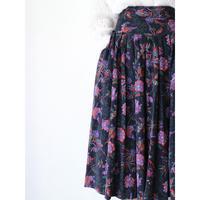 FlowerPattern Corduroy Skirt [No.80384]