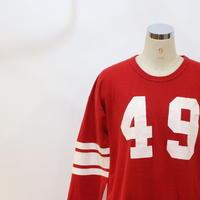 ~70's 長袖フットボールTシャツ [595C6]
