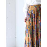 80's rayon wrap skirt