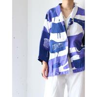 Bird pattern linen jacket