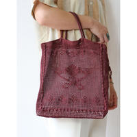 "Crochet ToteBag ""Bordeaux"" [No.60089]"