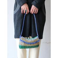 """Pull tab × yarn Shoulder bag """"blue"""""""