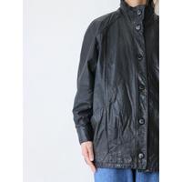 80's Leather half coat