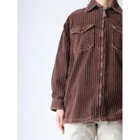 Wide corduroy zipup shirt