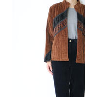 ~80's Quilting Velour Jacket