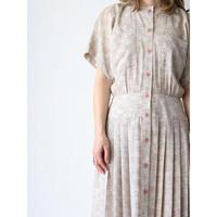 80's~ Patterned long dress