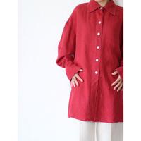 """Linen LongShirt """"Red"""""""