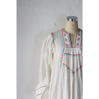 Cottongauze embroidered dress [858C]