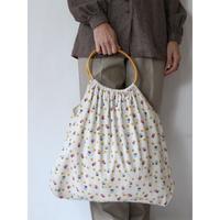 Wood Handle Corduroy Bag