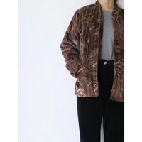 ~80's Quilting Velour Jacket [No.00314]