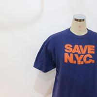 "70~80's T-shirt ""SAVE N.Y.C"" [595C12]"