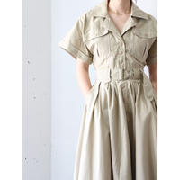 80's Belted long onepiece
