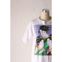 """Japanese souvenir T-shirt """"geisha"""" [590C5]"""
