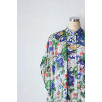 70's Flower DrapeDress [368C]