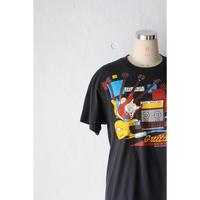 "80's T-shirt ""guiter"" [592C21]"
