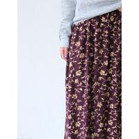 "Floral maxi skirt ""Purple"""