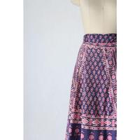 70's Indian cotton wrap skirt [060C]
