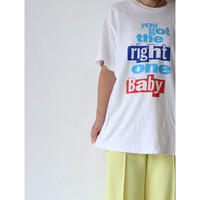 """90's T-shirt """"right one baby"""" [No.00057]"""