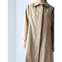 Plaid liner piping long coat