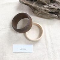 wood round bangle