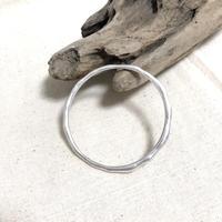 silver matte bracelet round