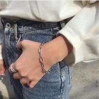 B-1 chain silver bracelet