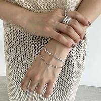 B-7 double sliver bracelet