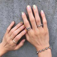 B-6 beads silver bracelet