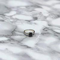 Hexagon Agate Silver Ring