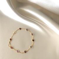 Spinel & Garnet Bracelet