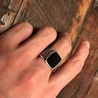 Onyx Silver Ring (Unisex)