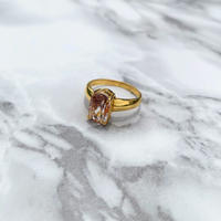 Glitter Topaz Ring