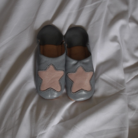 Kidsお星様のバブーシュ gray×mocha star
