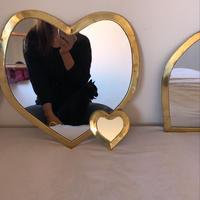 ※第2期予約販売12月〜2020年3月末発送 I love meHeart mirror いちばん大きめXL