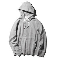 REGULAR FIT LOOPWHEEL ZIP UP PARKA - GR7 [JS140]
