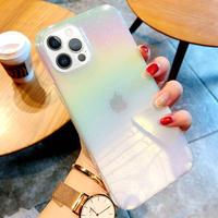 ツヤ感綺麗光るiphone12proケース 変色クリアiphone11/12promaxカバー アイフォンSE2ケース キラキラ携帯カバーM102