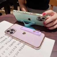 持ち手 スタンド機能付 iphone12/11promaxケース ハート柄 金色枠 iphoneSE2/XSmaxカバー ツヤ感 頑丈 耐久性M484
