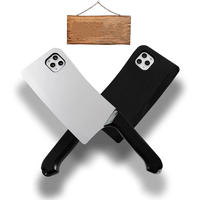 面白い包丁デザインiphone12ケース カッコイイiphone12promax携帯ケース シリコン製 男性ファッションのiphone11promaxケース[M00066]