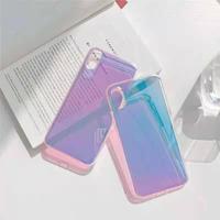 色変えるツヤ感ある iphone12/11promaxケース キラキラクリア iphoneSE2/XS/Xsmaxカバー おしゃれ頑丈ソフトケースインスタ人気M437