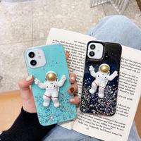 iphoneケース 宇宙飛行士人形 アイフォン12/11promaxカバー 透明宇宙人 spaceman iphone8/SE2ケース 立体M201