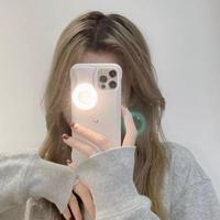自撮りライト付 iphone12/12pro/12promaxケース リングライト付 セルフィーライト   LEDセルフィーアイフォンケースM336