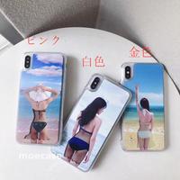 ビキニ美人 iphoneXS/XS MAXケース 流れ沙 キラキラ 可愛い 個性スマホケース おしゃれ携帯カバー