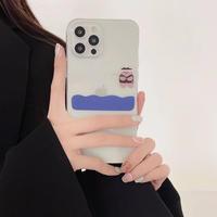 釣り熊 iphone13pro/13promaxケース 透明 アイフォン12pro/11romaxカバー  耐衝撃頑丈 M1153