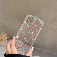 イチゴ iphone13mini/13promaxケース 透明 iphone12mini/11proカバー  韓国風  頑丈M1017