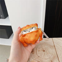 丸鶏ローストチキン airpodsproケース  鶏肉  airpodsカバー   キーリング付き 高品質食べ物デザインケース  面白い  M530
