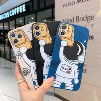 宇宙飛行士 iPhone13mini/13promaxケース  可愛いお揃い アイフォン12 /11promaxカバー  Astronauts 頑丈 M1002