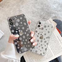 クリアiphone12/11promaxケース 雪の結晶 雪片透明アイフォン8プラス/SE2カバー ソフトケース  軽い薄いM165
