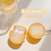 レモン  airpodsproケース   果物 lemon エアーポッズカバー  美味しいそう 高品質 可愛い保護ケース  M504